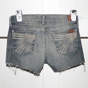 7 for all mankind womens cuf off shorts size 26